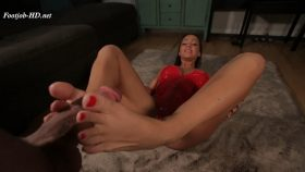Big Dick Foot Job and Massive Cum Shot – Abigail Mac