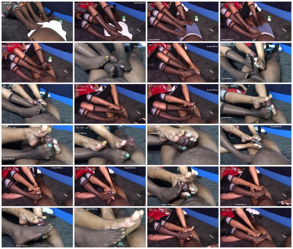 Cotton and Kimmy Double Footjob - Solemates and Footjobs_scrlist
