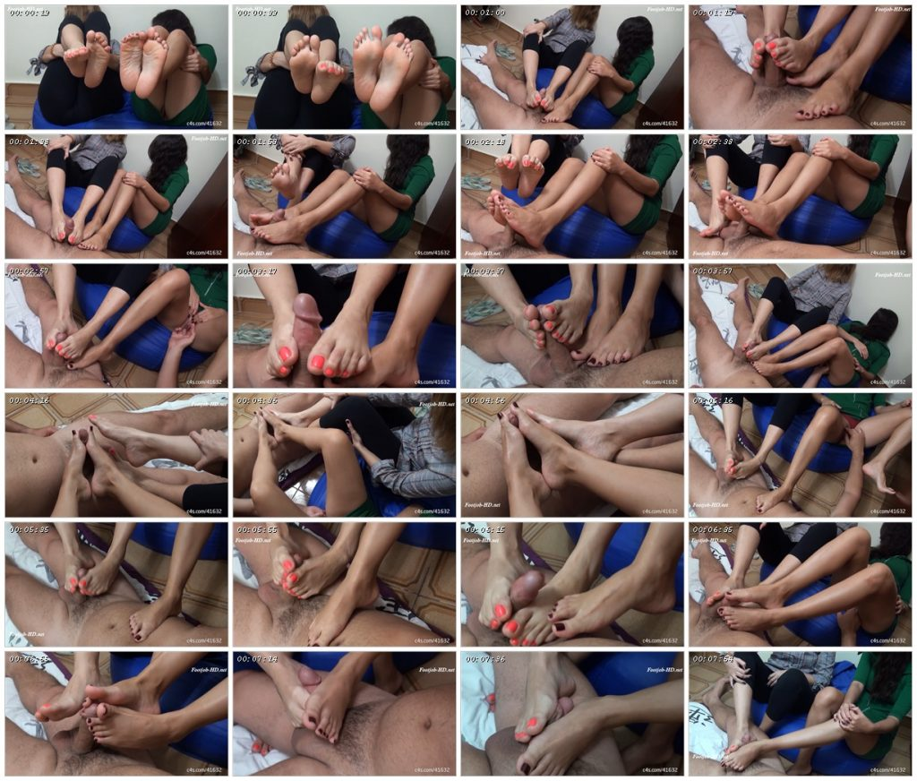 I filmed my girlfriend and her friend together doing footjob on another man! - Footjob Life Style !!_scrlist