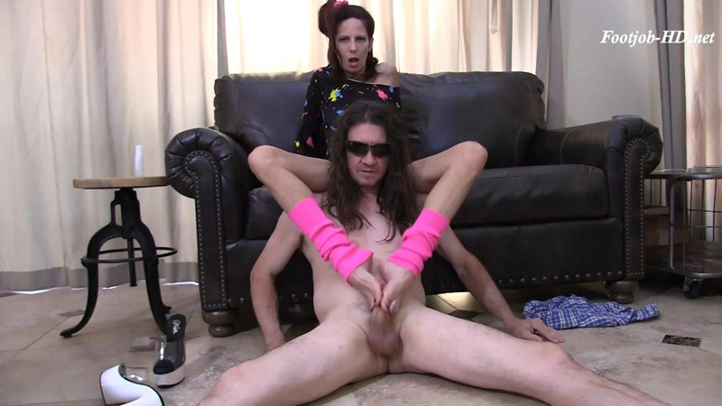 Back to the Eighties Footjob - Arches, Toes, Heels, Soles