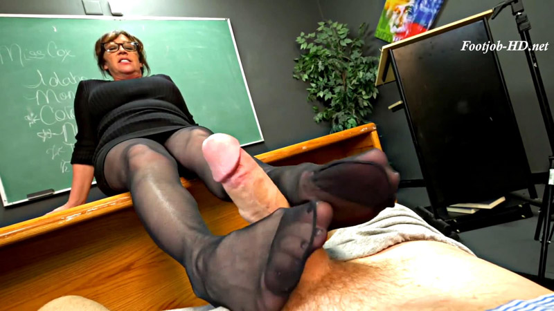 Mrs Kandi Cox Teacher Pantyhose FJ Thigh Fuck Phantasy - Perversion Productions
