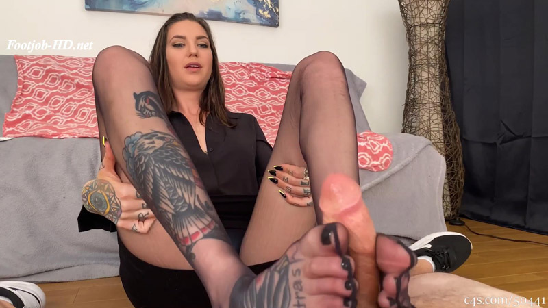 Caught Smelling Step-Mom's Big Feet Footjob - Bratty Babes Own You - Rocky Emerson