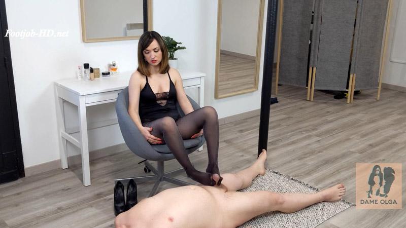 Pantyhose Footjob Hot Footjob in Lurex Tights - Dame Olga's Fetish Clips