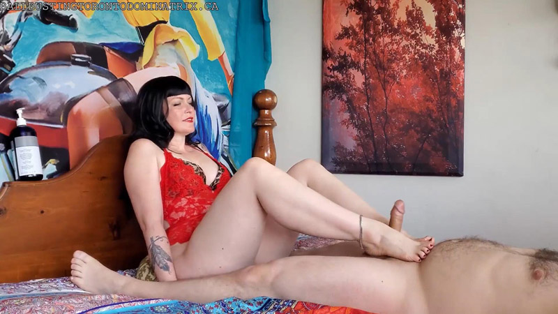 Subbies Reward Oiled Up Foot Show and Footjob - Bastienne Cross