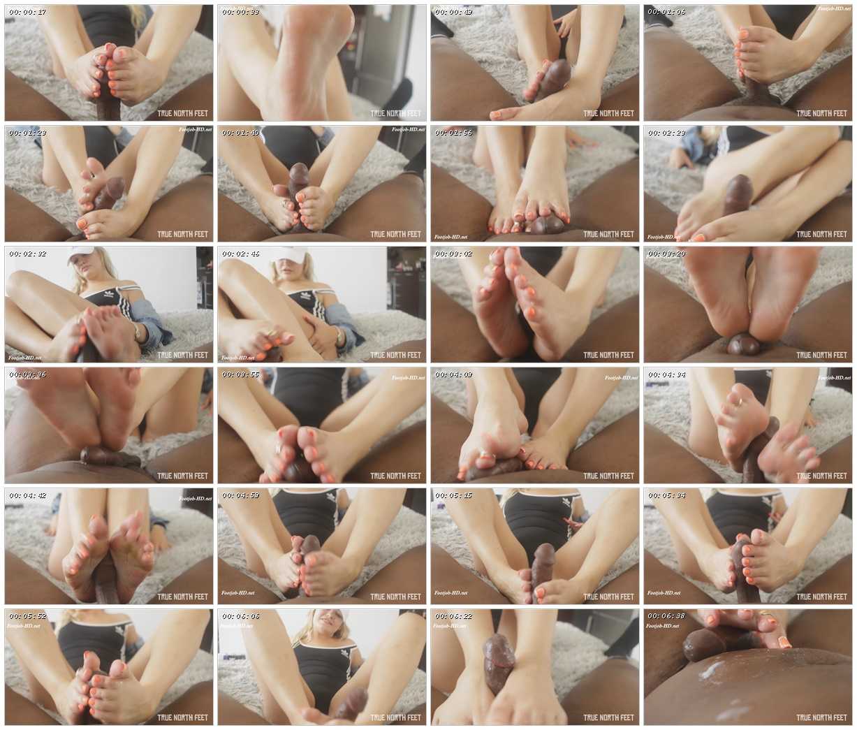 Orange Toes Footjob w Explosivetoes - TrueNorthFeet_scrlist