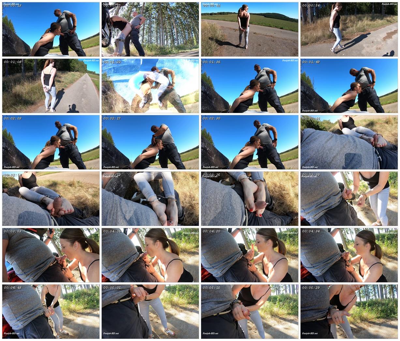 Outdoor – Footjob & Gefickt Mit Handschellen – Sabdeluxe_scrlist
