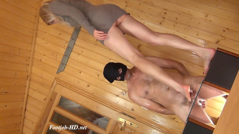 Trampling Footjob on the Glass Floor by Alina (Top View) - Aballs and cock crushing sexbomb