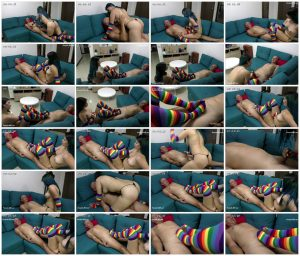 Young And Colorful Veronica Makes Footjob - Latin Domination Goddesses_scrlist
