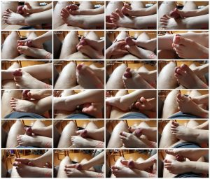 Hot Footjob With Sweet Little Feet For My Tutor French Nail - Leyla Lovegood_scrlist