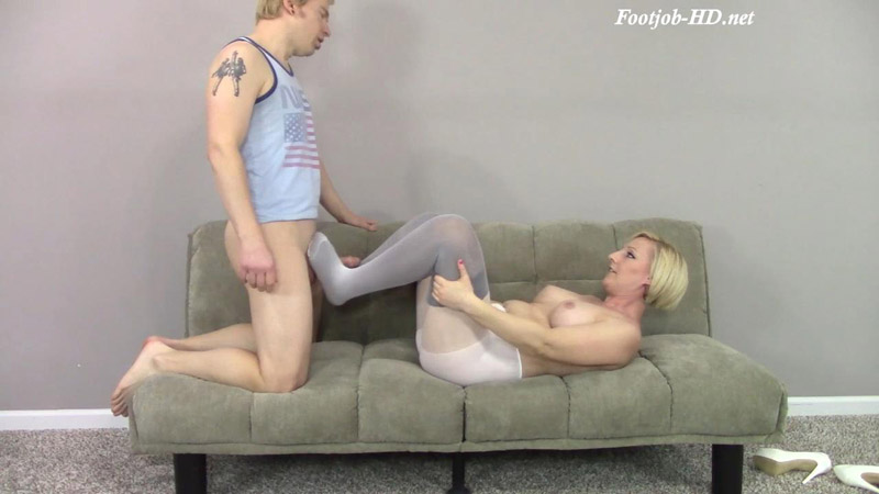 MILF Double Nylon Footjob to Doggystyle to Cum on Feet for Step-Son Thinking it is a Dream – Amateur Clips By Sexy Fantasies – Brittany Lynn