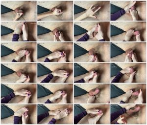 Purple Legwarmers Tease & Denial Close Up Toejob - Mistress Violet Vale_scrlist