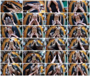 Fishnet Footjob Massage with a GoPro - Jules Grey_scrlist