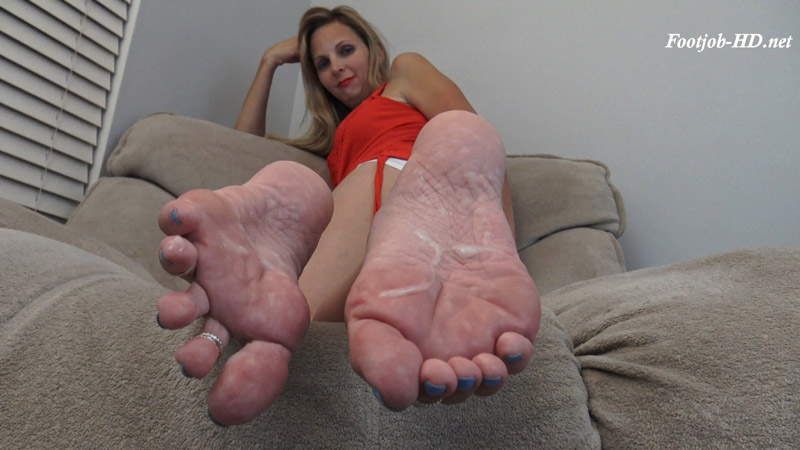 Lick and Slurp Your Own Cum off My Feet - Kinky Foot Girl