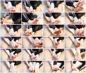 Pink Nails Footjob, Cum Covered Feet – Meline Cherie_scrlist