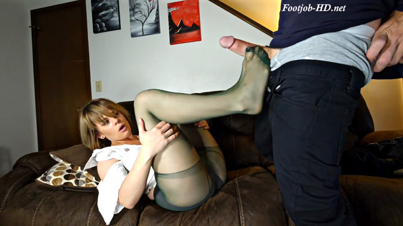 Colleen's First Time Footjob Leg Sex – Perversion Productions