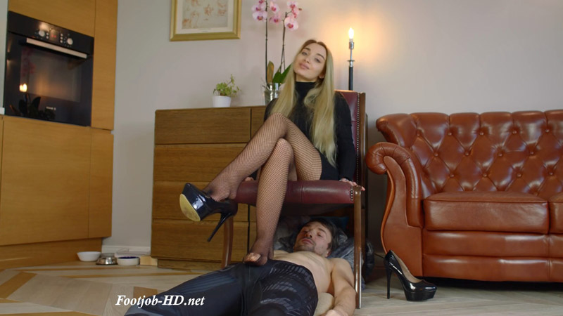 Fishnets Of Helena And His Sensitive Place – Full – Polish Mistress Clips