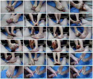 Cum on Long Toes Footjob – BootyfullWifey_scrlist